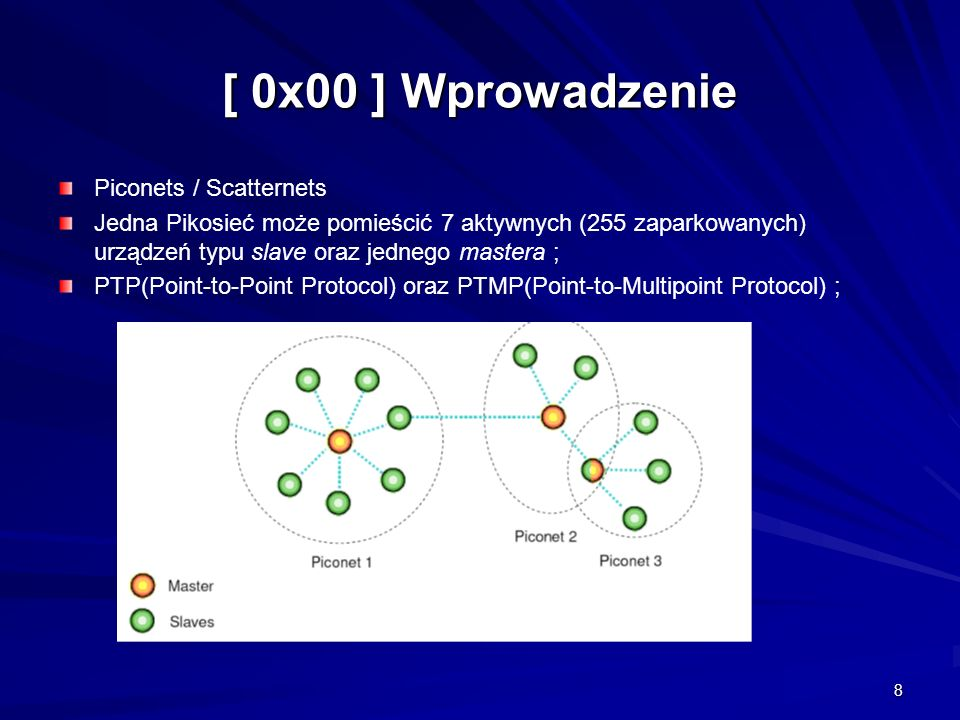 [ 0x00 ] Wprowadzenie Piconets / Scatternets